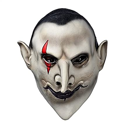 Yeduohorror Devils Latex Scary Mask Earl of Hell Face Vampire Bloodsucker Halloween Masquerade Mascara Terror Cosplay