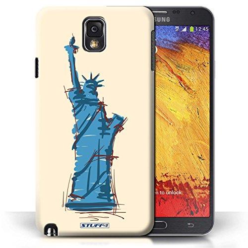 Etui / Coque pour Samsung Galaxy Note 3 / Statue de la Liberté conception / Collection de Monuments