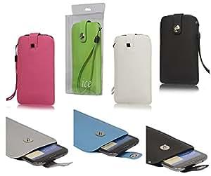 DFV mobile - Executive case texturojo design with strap and closure magnet > star g9000, color azul