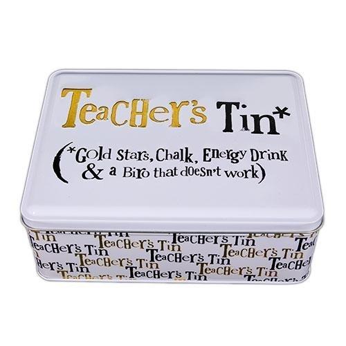 Bright Side Teachers Tin – Gold Stars, Chalk, Energy Drink
