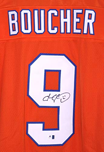 Boucher Signed - Bobby Boucher SCLSU Mud Dogs Signed Autographed Custom Orange #69 Jersey by Adam Sandler The Waterboy COA