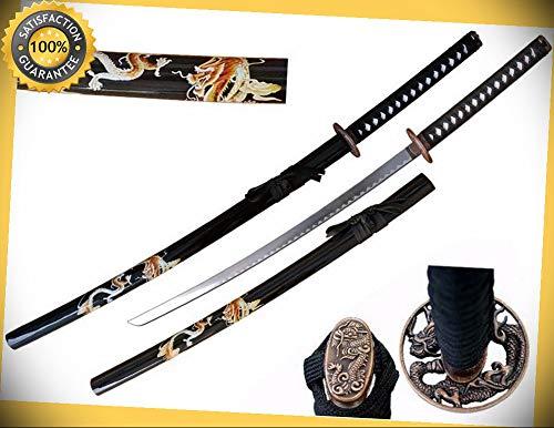 41'' Samurai Sword Katana with Zinc Dragon Tsuba & Dragon Graphic Saya perfect for cosplay outdoor -