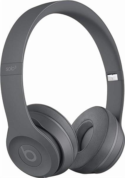49fc1fc5e26 Amazon.com: Beats Solo3 Wireless On-Ear Headphones - Neighborhood Collection  - Asphalt Gray (Renewed): Electronics