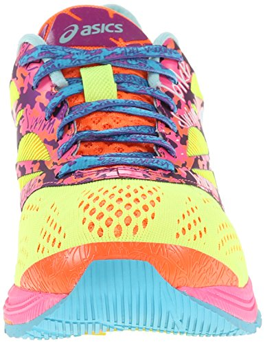 Asics Damen GEL Noosa Tri 10 Laufschuhe Flash Gelb / Türkis / Flash Pink