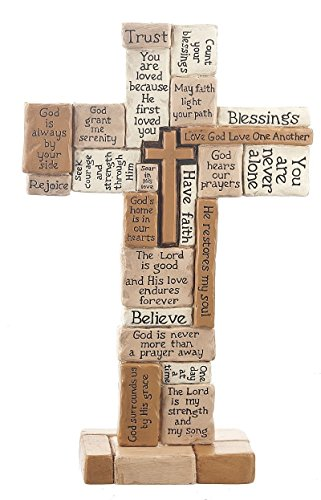 (Collage 10 Inch Polystone Tabletop Cross)