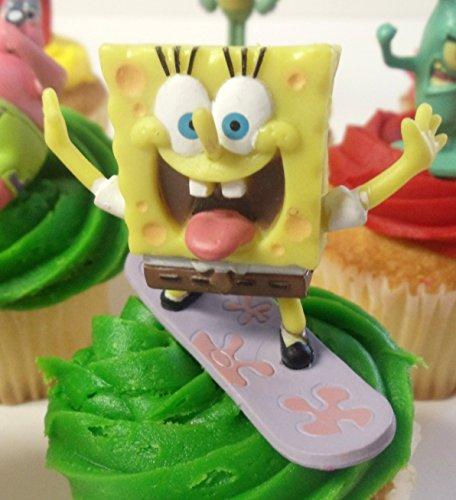 Spongebob SquarePants 11 Piece Birthday Cupcake Topper Set