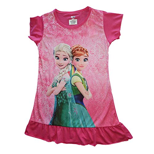 Disney Princess Frozen Elsa Anna Dress for Girls Toddler Kids Childrens Clothes for Party Casual Sleeveless