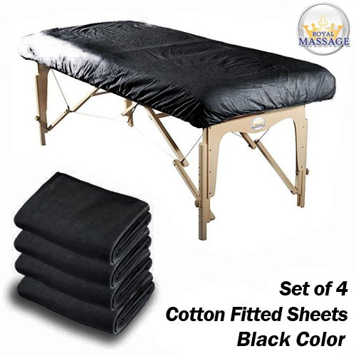 Vandue Royal Massage Set of 4 Cotton Flannel Massage Tabl...