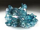 Astro Gallery Of Gems Aqua Aura Quartz Cluster - 253. 3 Grams