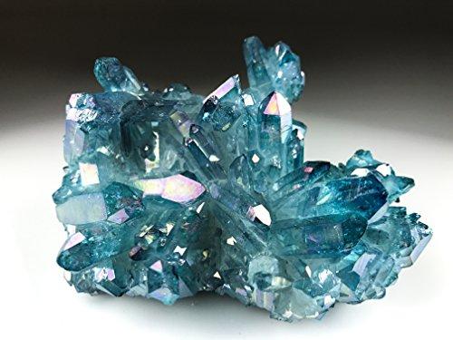 Astro Gallery Of Gems Aqua Aura Quartz Cluster - 253. 3 Grams by Astro Gallery Of Gems