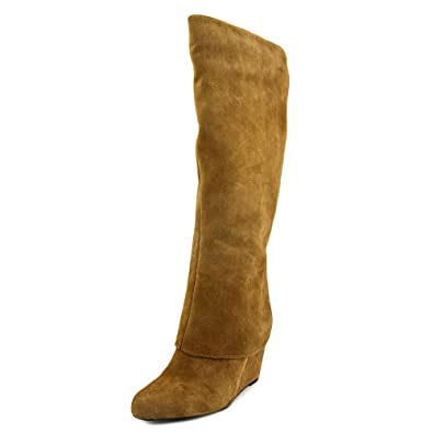 Jessica Simpson Women's Rallie Tall Wedge Boot,Dakota Tan Split Suede,US ...