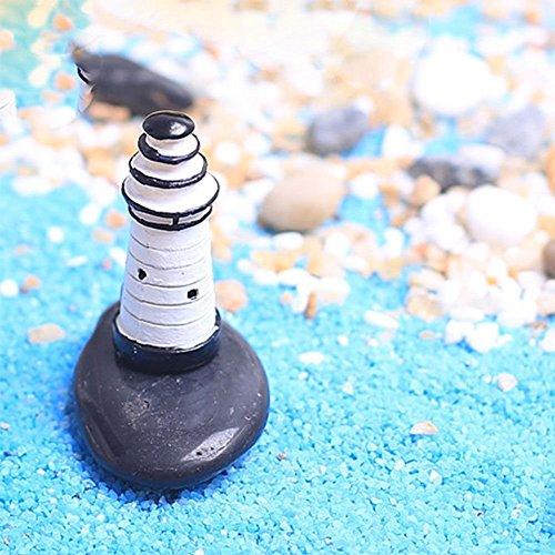 2Pcs DIY Craft Miniature Elfin Garden Lawn Ornaments Lighthouse Watchtower Tower (Miniature Lighthouse)