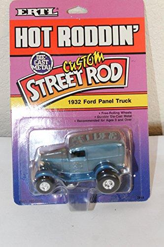 Custom Street Rod Vintage Toy, 1989 ERTL, 1932 Ford Panel Truck, 1:43 Scale, Nib