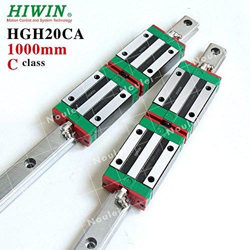 HIWIN HGH20CA Linear Guide Rail (1000mm HGR20 with 2pcs Bearing Block,2set)