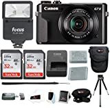 Canon Powershot G7X Mark II Digital Camera with Total of 64GB Memory (2 X 32GB) + NB-13L Battery + Flash + Accessory Bundle Review