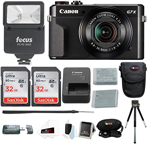 Canon PowerShot G7X Mark II Camera with 64GB Holiday Bundle