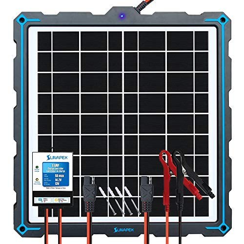 SUNAPEX-Upgraded-20W-Solar-Panel-Battery-Charger-Maintainer External Smart 3-Stages