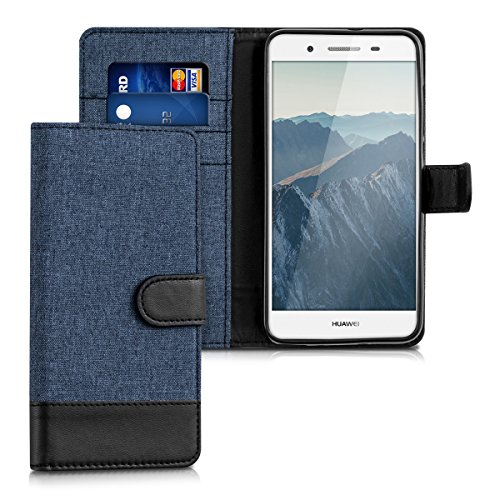 kwmobile Wallet Case for Huawei GR3 / P8 Lite Smart - Fabric and ...