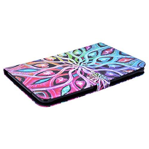 WE LOVE CASE Funda Samsung Galaxy Tab A 9.7, Piel y Tipo Cartera Carcasa Funda Galaxy Tab A 9.7 con Tapa Flip Wallet caso de Cuero Original, Funda Que Se Pega con Ranura Para Tarjeta Card Holder y Sta Mandala