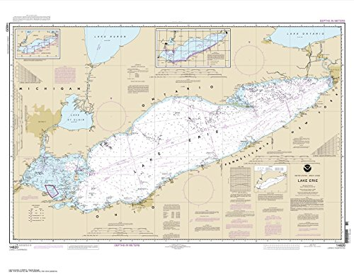 Paradise Cay Publications NOAA Chart 14820: Lake Erie, 33 X 42.6, TRADITIONAL PAPER (Best Kayak For Lake Erie)