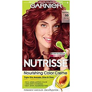 14. Garnier Nutrisse Nourishing Hair Color Creme, 66 True Red (Pomegranate) (Packaging May Vary)