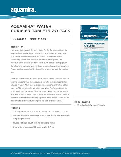 Aquamria Chlorine Dioxide Water Purifier Tablets