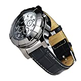 Moonwbak 2in1 Cigarette Lighter Watch,Leather Strap Sports Quartz Watch Coil Lighter, Electric Lighter Wrist with USB Electronic Rechargeable Windproof Flameless Cigar Lighter (Black-Band)
