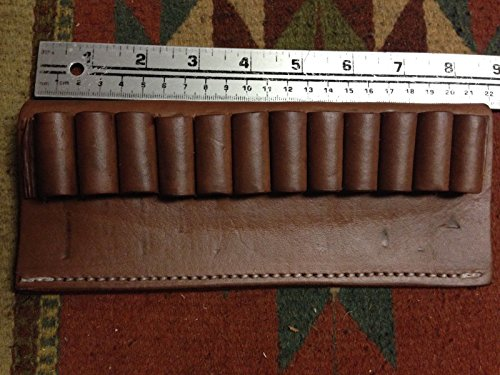 (1) 45 70 Caliber Bullet Ammo Cartridge Belt Slide Leather Holder Carrier