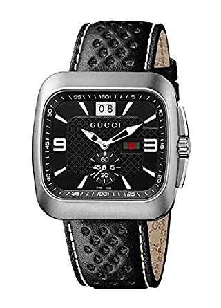 b46c58756db Gucci Coupe Grey Dial Leather Strap Men S Watch Mens. Gucci Ya126231 G  Timeless Dive White Dial Nylon Strap Watch Where
