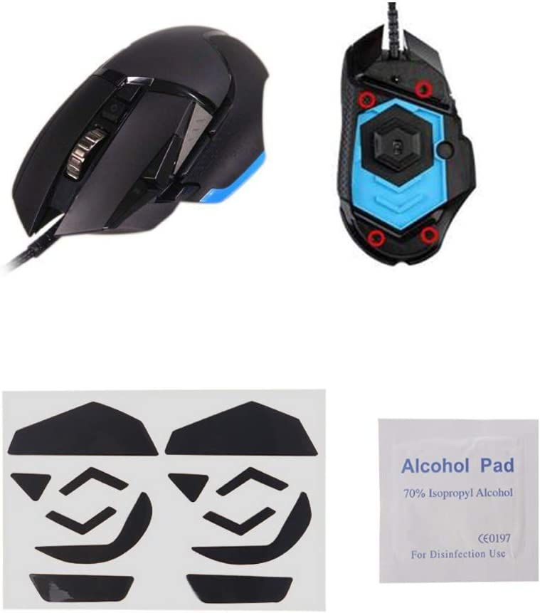 YUEYU 2 Sets//Pack Tiger Gaming Mouse Feet Mouse Skate for Logitech G502 Hero Lightspeed Wireless Gaming Mouse White Teflon Mouse Glides Curve Edge