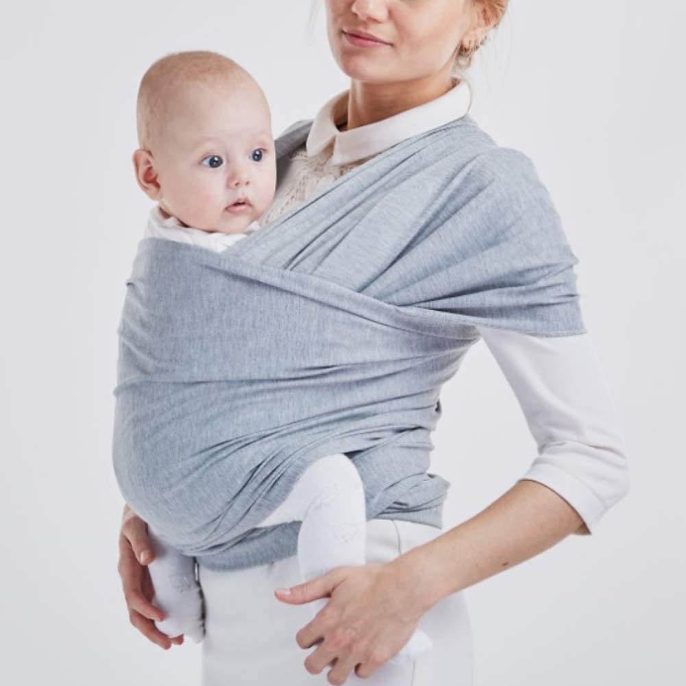 Baby Carrier Wrap Multifunction Baby Pure Color Hip Baby Wrap Ring Sling Baby Carrier Postpartum Belt Grey