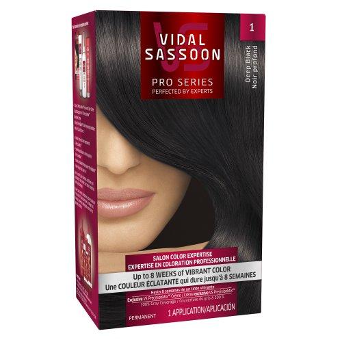 Vidal Sassoon Pro Series Hair Color 1 Deep Black 1 Kit, 1.000-Kit