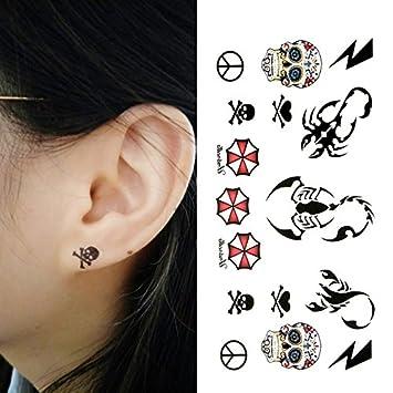 Amazoncom Oottati Small Cute Temporary Tattoo Skull Scorpion 2