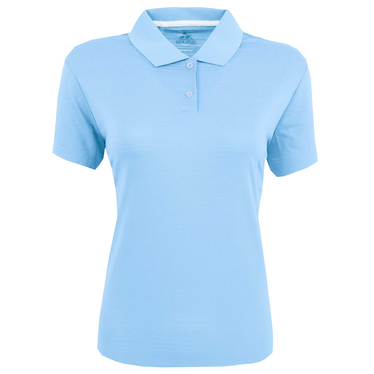 adidas Golf Womens Climalite Textured Short-Sleeve Polo (A162) -Tide -S