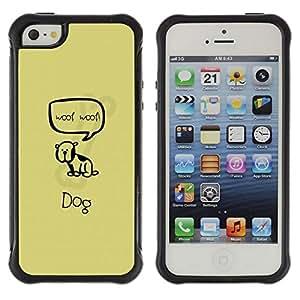 LASTONE PHONE CASE / Suave Silicona Caso Carcasa de Caucho Funda para Apple Iphone 5 / 5S / Cute Woop Woop Dog