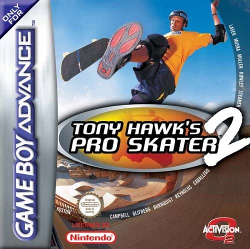 best GameBoy Advance games -  tony hawks pro skater 2 gba