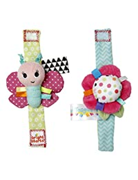 Bright Starts Pretty in Pink Rattle, Me Bracelets BOBEBE Online Baby Store From New York to Miami and Los Angeles