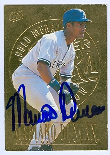 Mariano Duncan Autographed Baseball Card New York Yankees 1996