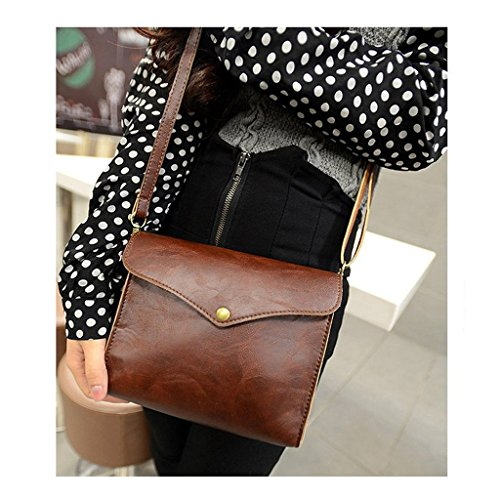 Office Messenger Bag Ladies One Bag Color College University Minetom Laptop Bag Satchel Academic Vintage Casual Small Bag Body Term Cross Semester Leatherette Shoulder Bag wHqtOfx