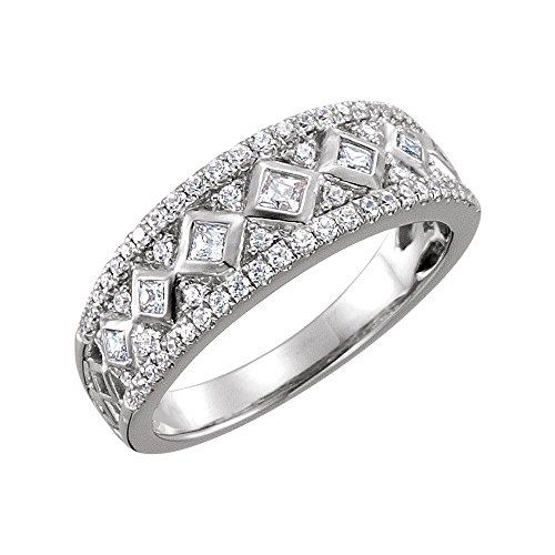 Etruscan Anniversary Band - Bonyak Jewelry Diamond Etruscan Anniversary Band in 14k White Gold - Size 7