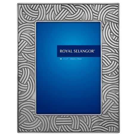 (Royal Selangor Hand Finished Knots Collection Pewter Photo Frame (5R))