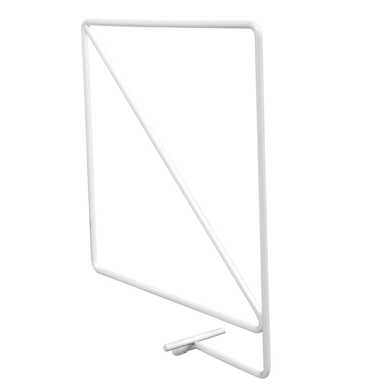 John Sterling 0370-WT Wire Shelf Dividers for Wood Shelving, 8 1/4-Inch, Warm White KNAPE & VOGT