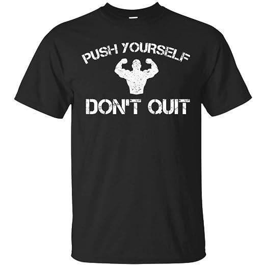 New Lychee Push Yourself Dont Quit T Shirt Birthday Gifts Men Women Boys Girls