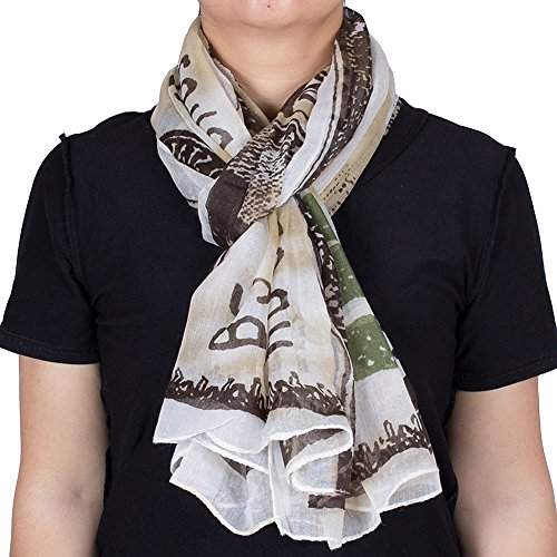 Novelty US 100 Dollar Bill Print Fashion Scarf for Women (Dollar Scarves)