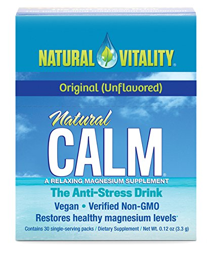 Natural Vitality Natural Calm Plus Drink (30 count) - Anti Stress Magnesium Drink Powder. Healthy Supplements -