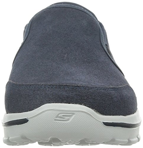 Skechers Go Walk 3 Heren Leren Slip-on Casuals Schoenen Blauw Maat 8