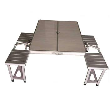 WU LAI Mesa Plegable De Aluminio   Mesa Y Silla De Piezas Portátiles ...