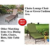 NEW CHAISE LOUNGE LOUNGER CHAIR OUTDOOR POOL ADJUSTABLE DEEP SEATING TAN