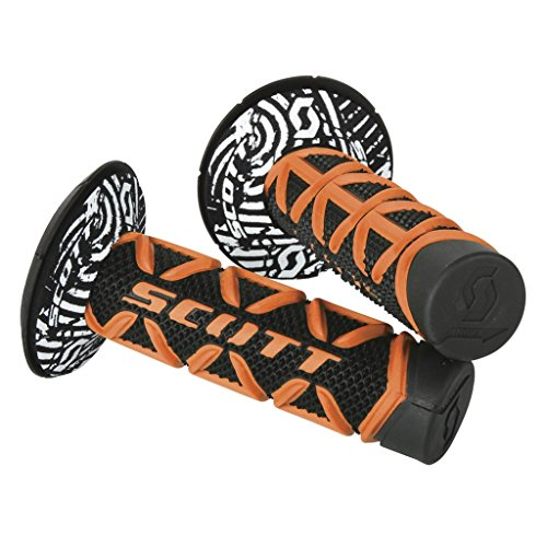 Scott Sports USA One Size Scott Sports 219626-1008 Orange/Black Diamond Motorcycle Grips w/Donuts