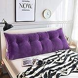 Lumbar Pillow Cailin, Nordic Solid Color Corn Corduroy Bedside Triangle Backrest, Bay Window Long Pillow, Sofa Large Cushion (Color : Purple, Size : 1002050cm)